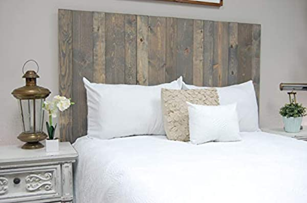 Coastal Gray Headboard King Size Stain Leaner Style Handcrafted Leans On Wall Easy Installation