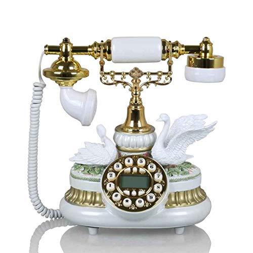 Platenspeler antieke telefoon, retro vintage landleiding-woonkamer studeerkleurig binnenlands premium telefoon wit