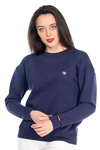 Dames sweater Streetwear pullover sweatpulli T-shirt ronde hals 507