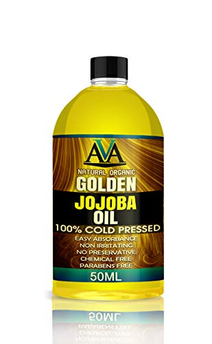 100% PURE NATURAL GOLDEN JOJOBA OIL MOISTURIZER HAIR, SKIN, FACE CARE 50ML