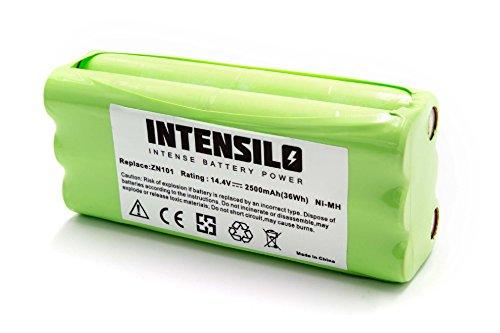 INTENSILO NiMH Akku 2500mAh (14.4V) passend für Saugroboter Home Cleaner Heimroboter Dirt Devil M610, M611, M612 Spider 2.0, Puck M610, M610-1