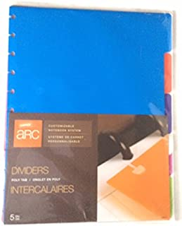 Staples Arc System Tab Dividers, Assorted colors, 9 x 11