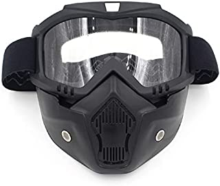 Motorcycle Helmet Riding Off-Road Equipment Outdoor Goggles mask Plate Lens mask Goggles Eyeglasses (Color : Clear)