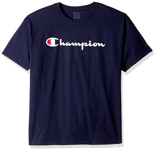 Champion Herren Classic Jersey Graphic T-Shirt Hemd, Navy, Groß
