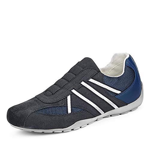 Geox Herren Sneaker U RAVEX, Männer Slip-On Sneaker, lose Einlage, Halbschuh sportschuh Slipper Gummizug atmungsaktiv Men,DK AVIO/Navy,40 EU / 6.5 UK