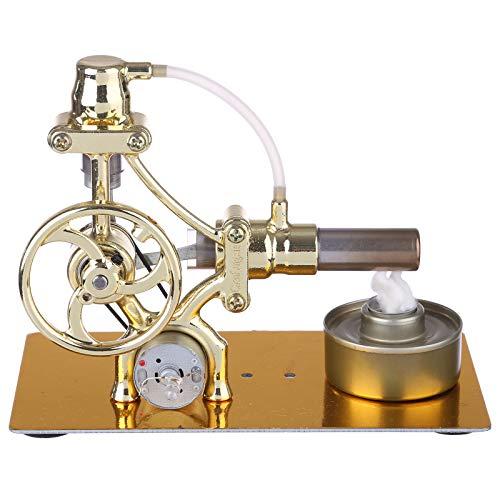 Gettesy Stirlingmotor Sterling, Metall Stirling Motor Bausatz Generator Modell Engine Kit Physisches Experiment Geburtstagsgeschenk für Kinder und Technikbegeisterte