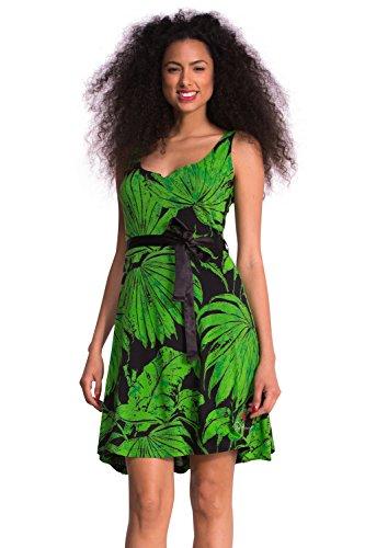Desigual Damen NOIT Kleid, Grün (Verde Aventura 4034), 42/XL (Herstellergröße: XXL)