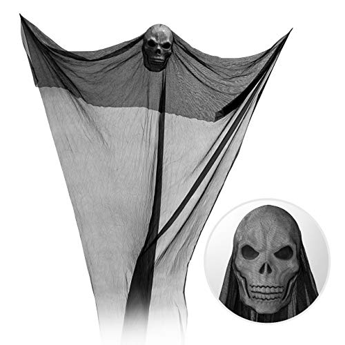 GWHOLE Halloween Ghost Decorations Creepy Hanging Fantasma Spaventoso Prop Halloween Decorazioni da Appendere Volare Fantasma Appeso Grim Reaper Skull Stregate per Party