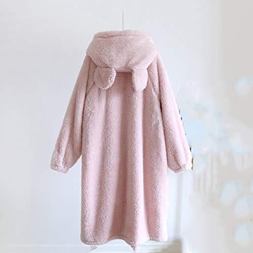 SCDZS Herbst Winter Damen Flanell Nachthemd Koreanische Verdickung Homewear Pyjamas...