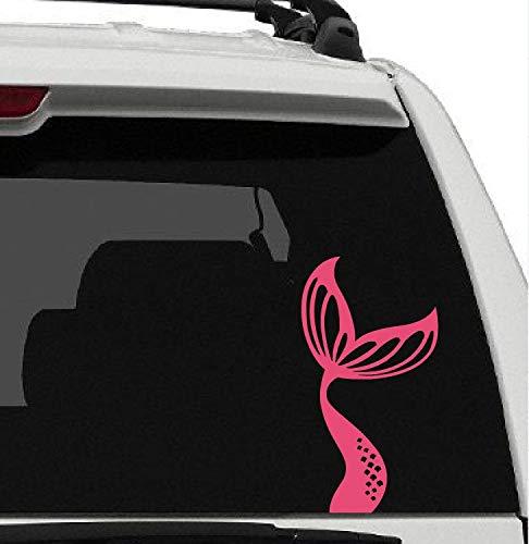 43LenaJon Calcomanía de vinilo para ventana de coche, diseño de cola de sirena, para vacaciones, playa, arena, agua, amor, vida, coche, impermeable