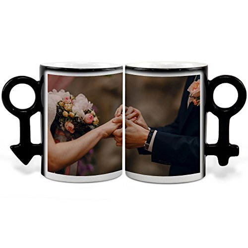 Lolapix - Tazas Mágicas Pareja Personalizada con tu Foto, diseño o T