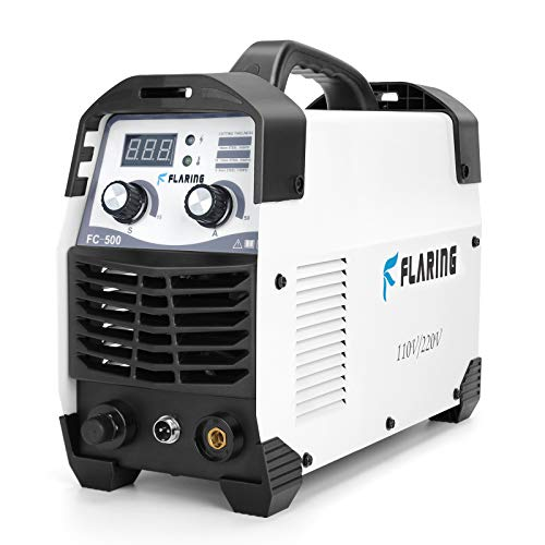 FLARING Plasma Cutter 50 AMP 110V/220V 1/2'' Clean Cut Max 16MM IGBT High Frequency Inverter Plasma Cutting Machine for Car Frame,Carbon Steel,Stainless Steel,Thin Copper,Aluminum