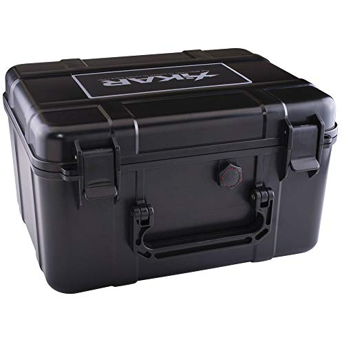 Xikar Travel Humidor for 60 Cigars, New Slim Design, High Density Foam...