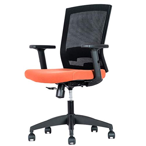 Ergonomic Office Desk Chair High Back Mesh Desk Chair with Adjustable Arm Rests Computer Chair Height Adjustable (Color : Orange)