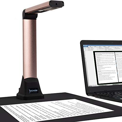 Cámara de Documentos iOCHOW S500, escáner de Documentos para Profesores, Plegable y portátil, hasta A4, Escáner Profesional con OCR, SDK y Twain en Varios Idiomas. No Compatible con Mac OS ⭐