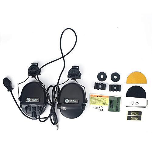 3PS Sordin 戦術ヘッドセット ヘルメットレールアダプター、SORDIN タイプ タクティカルヘッドセット レプリカ (BK)