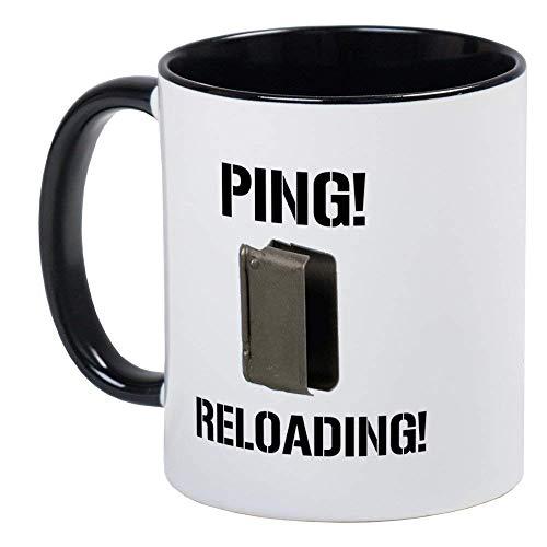 M1 Garand Enbloc Clip Mug - Ceramic 11oz RINGER Coffee/Tea Cup Gift Stocking Stuffer