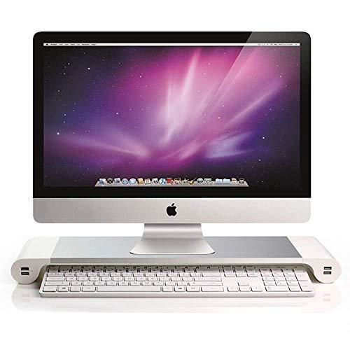 Soporte de Aluminio Soporte para computadora portátil Soporte para Monitor Soporte para computadora portátil Macbook Carga USB, para Macbook, Apple, Laptop