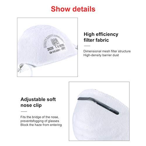 Atemschutzmaske FFP2 Maske Atemschutz Mundschutz Atemschutzmaske zur Prophylaxe Schmierinfektionen & Tröpfcheninfektionen (1PCS) - 4