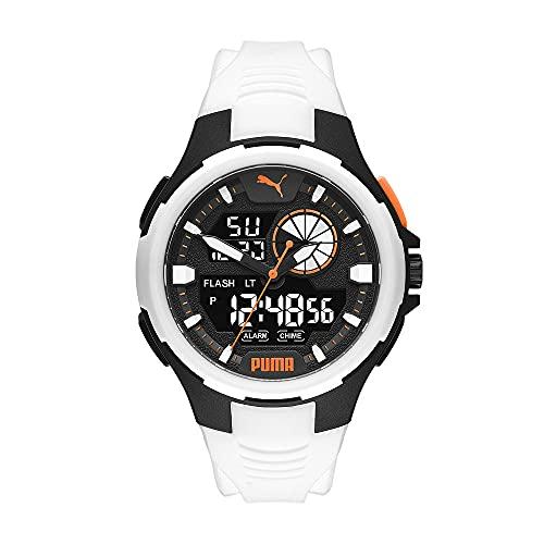 PUMA Herren Bold Analog-Digital Three-Hand, Schwarz Polycarbonate Uhr, P5061