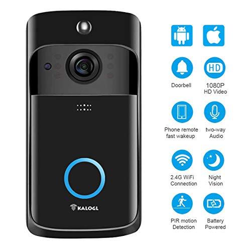 Video Doorbell [2019 Upgrade] Wireless Doorbell Camera IP5 Waterproof HD WiFi Security...