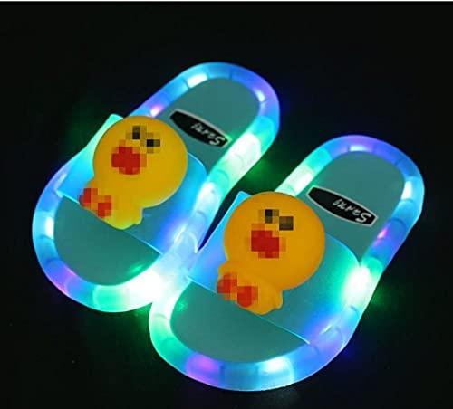 Kirin-1 Zapatillas De Novia,2021 Zapatos Luminosa Jalea Verano niños LED Zapatillas para...