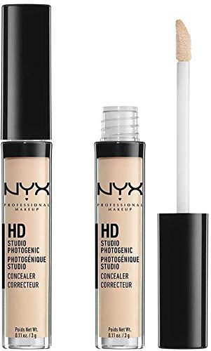 NYX Professional Makeup HD Photogenic Concealer Wand, Abdeckcreme, Leichte bis starke Deckkraft, Porcelain, 2-er Pack, 3g
