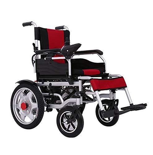 Sanhai Elektrischer Rollstuhl, Faltbarer, Leichter Tragbarer Elektrischer Rollstuhl, Elektrischer Oder Manueller Betrieb, Einstellbare Pedale, Geeignet Für Ältere Menschen Oder Patienten,Lila