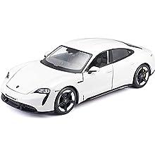 Porsche Taycan Turbo S White 1/24 Diecast Model Car by Bburago 21098