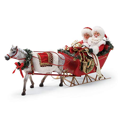 Department 56 Possible Dreams Santa's One Horse Open Sleigh. Figurine, Multicolor