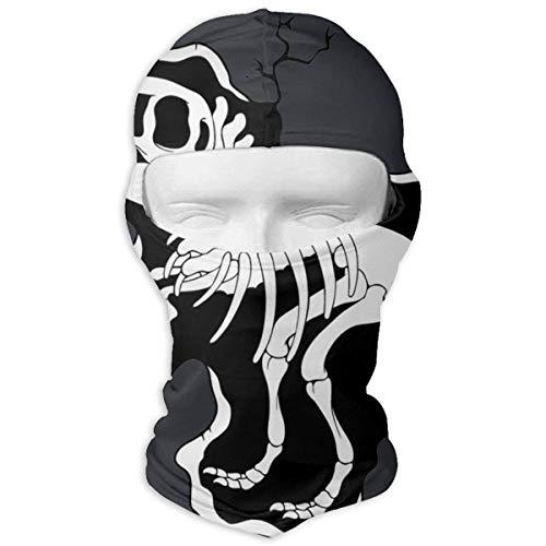 NA Dinosaur Bones.png Pasamontañas con capucha para el cuello, gorro térmico de esquí, máscara de invierno para cara completa