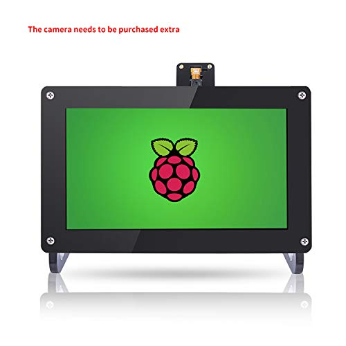 SUNFOUNDER 7 inch IPS Display Panel Monitor 1024×600 HD LCD HDMI/VGA/NTSC/Pal with Case And Stand for Raspberry Pi 3, 2 Model B And 1 Model B+/A+/B Kano