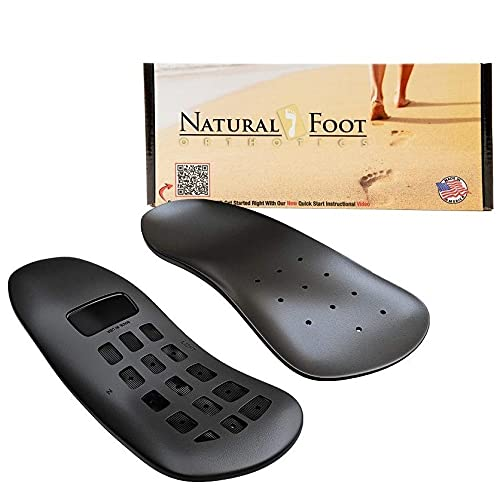 Natural Foot Orthotics Inserts for Plantar Fasciitis  Support Shoe Insert  Feet/Heel/Back/Joint Pain Relief  Running Walk-Fit Shoes/Boots/Heels Insoles Good for medium Low to Flat Arches   Made in USA
