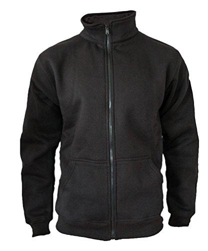 ROCK-IT Apparel® Sweaterjacke Herren ohne Kapuze Pullover Männer Zipper Jacke mit Stehkragen und Reißverschluss Fleece-Innenseite Farbe schwarz XX-Large