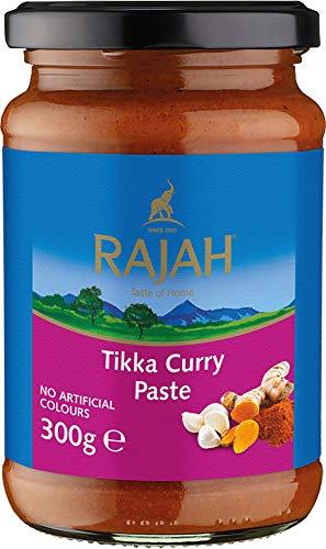 Rajah Tikka Currypaste – Scharfe Gewürzpaste angelehnt an das beliebte englische Tikka-Curry – Ideal zum Würzen von Fleisch, Fisch oder Gemüse – 1 x 300 g