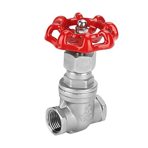 DN15 Edelstahl-Absperrschieber G1/2 Innengewinde-Absperrventil Rutschfester Knopf Wasser-Absperrschieber für Öl Gas