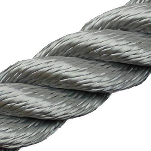 Handlaufseil Absperrseil 30 mm - 4fach geschlagen Farbe: grau