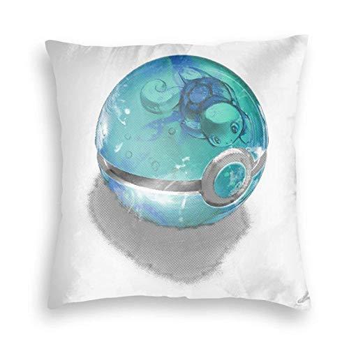 Darling Frankxx Zero Two Funda de almohada cuadrada de terciopelo, decoración para el hogar para cama, sofá, sala de estar, fundas de cojín de 45,7 x 45,7 cm, bola de burbujas - Squirtle
