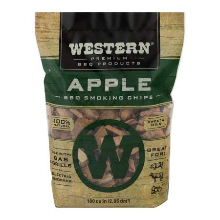 Western BBQ Smoking Wood Chips Variety Pack Bundle (4)- Apple, Mesquite, Hickory, and Cherry Flavors