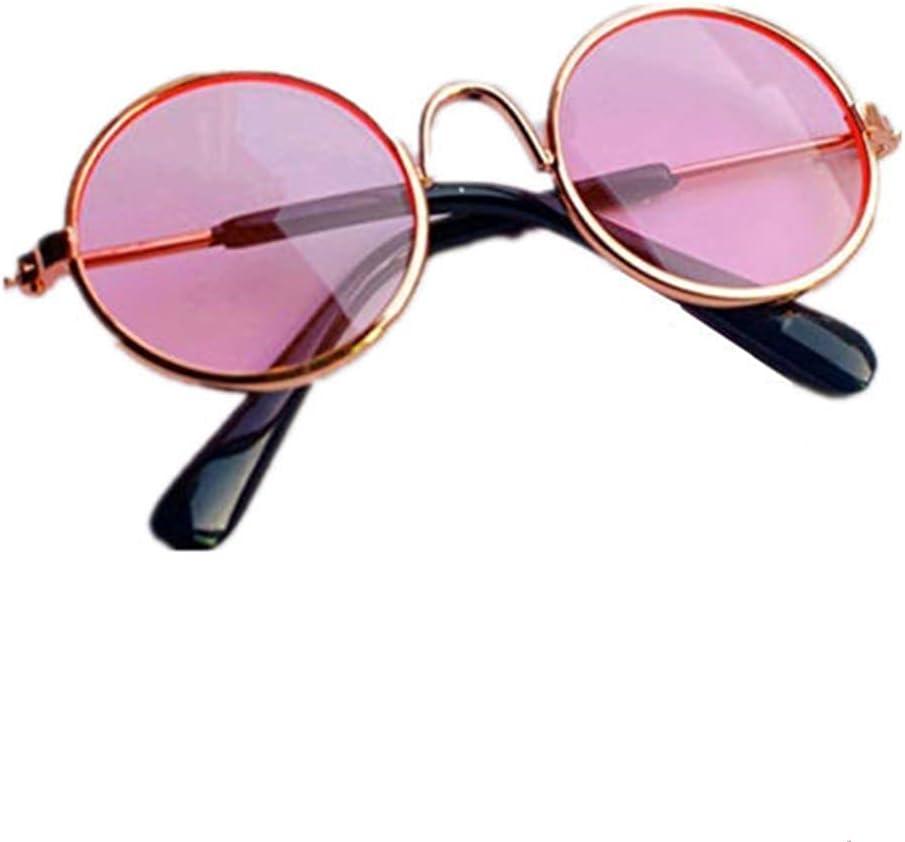 Csheng Gafas De Sol para Perros Gafas para Gatos Gafas para Gatos Gafas Protectoras para Perros Plegable Perro Gafas de Sol Perro Gafas Pink