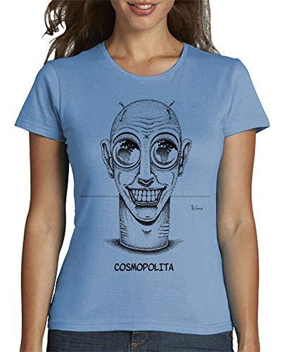 tostadora - T-Shirt Kosmopolitisch - Frauen Himmelblau M