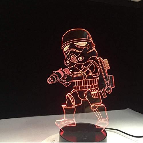 3D Pet Dog Led Schreibtisch Tischlampe USB 3D Nachtlichter 7 Farben Ändern Sie USB 3D Illusionslichter für Wohnzimmer dekorative Lampe