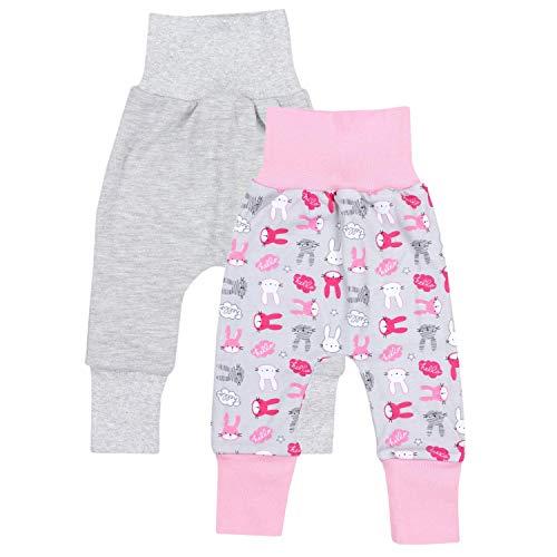 TupTam Baby Mädchen Mitwachshose 2er Pack, Farbe: Farbenmix 2, Größe: 56/62