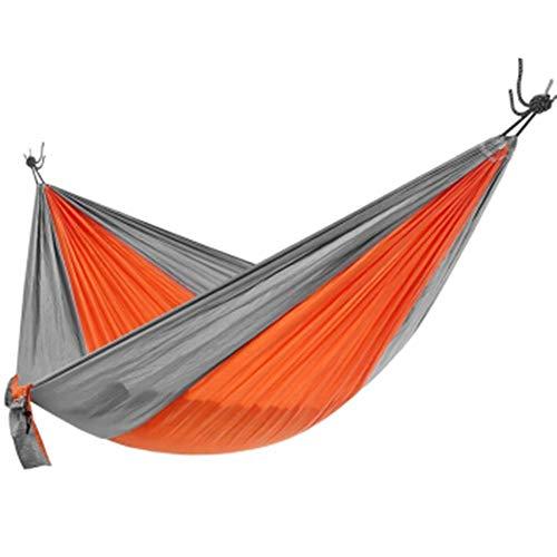 Hamac Durable Hamac Portable en Plein air for Sac à Dos Voyage Plage équipement léger en Nylon Balancez Parachute séchage Rapide Léger et Facile à Installer (Couleur : Orange, Size : 265x140cm)