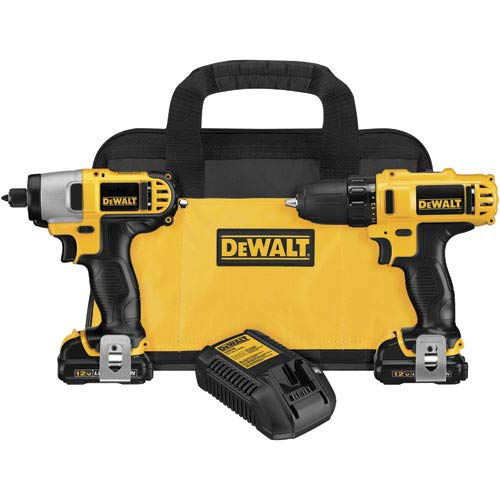 Dewalt DCK211S2R 12V MAX Lithium-Ion 3/8 in. Cordless Drill Driver / Impact Driver Combo Kit (1.5 Ah) (Renewed)