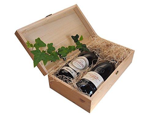 Geschenk Weine Amarone und Valpolicella Ripasso Bertani in Originale Holzkiste - Rega Vino für jeden Anlass - Code 182
