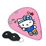 Hello Kitty - Púas para guitarra (6 unidades, incluye púa, fina, mediana, pesada, 0,46 mm, 0,71 mm, 0,96 mm, adultos, hombres, mujeres, adolescentes, 0,46 mm)