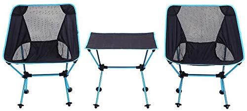 Portable Chaise pliante réglable en aluminium extérieur pique-nique table et 2 chaises Set, avec sac Carry, inrayable résistant à l'usure, for pique-nique Camping Road Trip Pêche