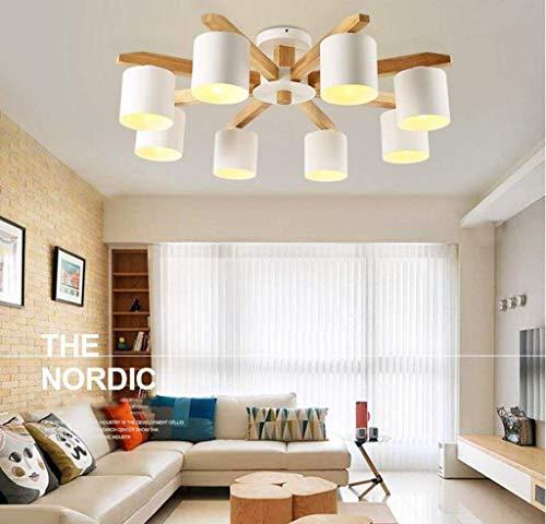 HYY-YY Hanglampen, houten plafond Light 8 Head Hanglampen - Creative Restaurant Opknoping Lampen Wood slaapkamer plafond licht houten plafond Lampen