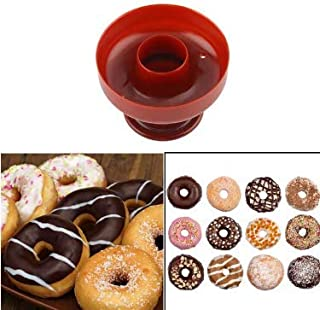 S.Han 1 pcs Donut Mold Cake Desserts Bread Plunger Cutter Doughnut Tool Baking Fondant Silicone Mould